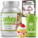 Whey Protein 104 NHT 908g.  Seria American  STRAWBERRY CAKE