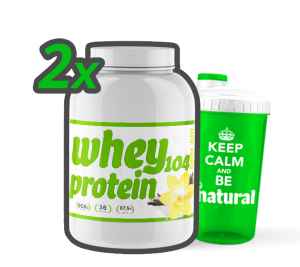 2x Whey Protein 104  908g, Natural Health Technology  + SHAKER